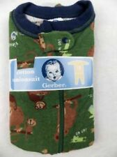 Gerber Toddler 1 Pc Cotton Unionsuit PJs Pajamas 6-9 Months Monkey Print #4074