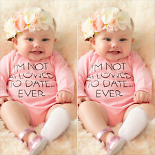 Girls Clothes Long Sleeve Pink Letters Printed Baby Romper Jumpsuits & Rompers