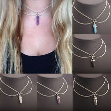 Fashion Women Crystal Chain Choker Statement Chunky Collar Pendant Necklace