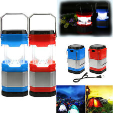 Solar USB Rechargeable Camping Hiking Tent Lantern Fishing Light Lamp FlashLight