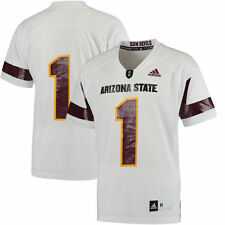 #1 Arizona State Sun Devils adidas Replica Football Jersey - White - College