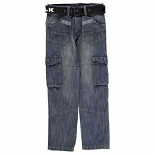 Airwalk Kids Dark Wash Jeans Junior Boys Denim Trousers Casual Pants Bottoms