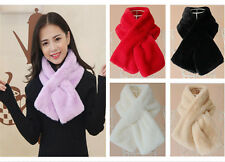 Winter Women Faux Rabbit Fur Collar Scarf Stole Cape Korean Thick Shawl Wrap New