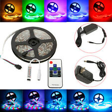 5M 300 LED RGB Strip Lights 3528 5050 SMD Waterproof + Power + RF/IR Control