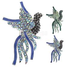 Colorful Crystal Peacock Bird Brooch Pins Jewelry Gifts