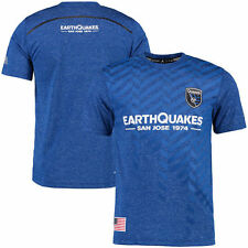 San Jose Earthquakes adidas climalite Jersey T-Shirt - Blue - MLS