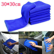 2X/6X 30* 30cm Blue Absorbent Wash Cloth Car Auto Care Microfiber Cleaning Towel