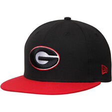 Georgia Bulldogs New Era Basic 59FIFTY Fitted Hat - Black/Red - NCAA