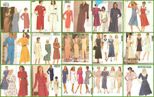 OOP Butterick Sewing Pattern Misses Dress with Plus Size 14 16 18 You Pick