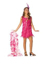 Fringe Flapper Child 1920's Halloween Costume Hot Pink Gatsby Cute Girls S M L
