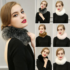 Faux Rabbit Fur Scarf Shawl Cape Wrap Collar Stole Winter Scarf Women Scarves NE