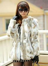 Vogue  Real Rabbit Fur Coat Nature Fashion Winter Women Rabbit Fur Jacket Sz@@