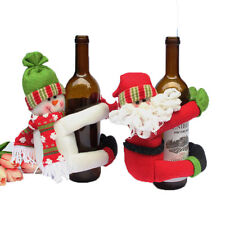 Snowman/Santa Claus Wine Bottle Drinks Holder Household Adornment Ornament Decor