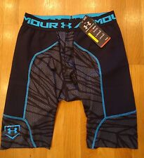 NWT UNDER ARMOUR UNDENIABLE PRINTED SLIDER SHORTS COMPRESSION FIT MENS LARGE