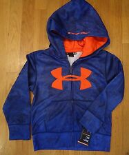 NWT UNDER ARMOUR FULL ZIP HOODIE JACKET NIGHT VISION CAMO BOYS SIZE 4 6 HOODY