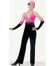 Jazz Dance Costume Artstone Tap Skate Jumpsuit Pink Black All That Jazz
