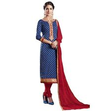 Ready Made Designer Brocade Cotton Embroidered Salwar Kameez-Mallika-02-8054