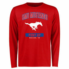 SMU Mustangs Campus Icon Long Sleeve T-Shirt - Red - College
