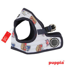 Any Size - PUPPIA - BRITANNIA - Soft Dog Harness Vest - Navy Blue - CLEARANCE