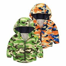 Kids Baby Boys outerwear camouflage Hooded coats Jacket Kids Boys autumn Clothes