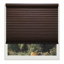 Linen Avenue Custom Cordless Chocolate Brown Light-fIltering Cellular Shade