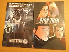 TRANSFORMERS:  SECTOR 7 + STAR TREK:  THE OFFICIAL MOTION PICTURE ADAPTATION LOT