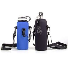 Outdoor 1000ML Water Bottle Carrier Insulated Cover Bag Pouch Holder Strap Pouch