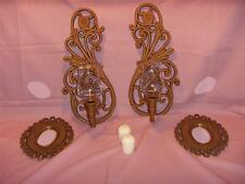 Homco Sconce & Mirrors Wall Hanging Group w/2 Votive Cups & Candles Included
