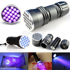 Portable UV Ultra Violet LED Flashlight Blacklight Aluminum Torch Light Lamp AAA