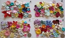 SCRAPBOOKING NO 048 - 18 MIXED PRIMA PAPER FLOWERS - 5 DIFFERENT PACKS AVAILABLE