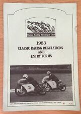 Classic Racing Motorcycle Club 1983 Classic Racing Regulations And Entry Forms