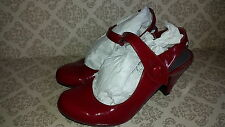 Viva La Diva - Patent Red Mary Jane  Heel Shoes  - Size 4 - Euro 36-37