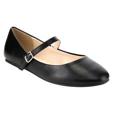 CityClassified FE72 Women's Plain Ankle Strap Mary Jane Ballet Flats New In Box