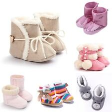 Infant Baby Girl Soft Sole Shoes 0-18M Toddler Warm Winter Boots Christmas Gifts