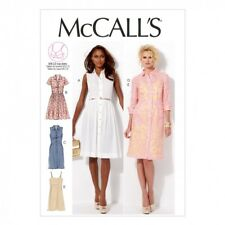 McCalls Ladies Sewing Pattern 6696 Shirt Dresses with Cup Sizes (McCalls-6696-M)