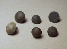 Nice lot dug buttons 16th-17th century drilled shank
