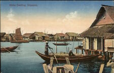 Malay Dwelling Singapore c1910 Postcard