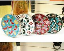 1x Vintage Round Flower Folding Tote Bag Handbag Purse Table Hook Hanger Holder