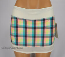 NEW LULULEMON Hotty Hot Skirt Sz 6 Run Wee Wheezy Check NWT Plaid FREE SHIP