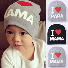 Cute Love PAPA/MAMA Toddler Infant Kids Baby Cotton Soft Warm Hat Beanie Cap