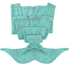 Mermaid Tail Blanket Super Soft Warm Hand Crocheted Knitting Wool For Adult&Kids