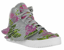 Adidas JS Wings Floral Grey Hi-Top Basketball Fashion Boots Trainers