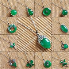 BA3412-3424 Wholesale K-Gold Plated Copper Jade Necklace 18''