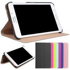 PU Leather Folio Stand Case Cover For Samsung Galaxy Tab J 7.0 T285DY+Film