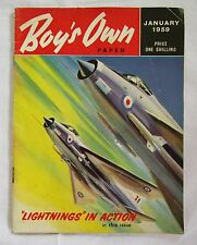 Vintage Boys Own Paper Magazine - JANUARY 1959 - Lightnings In Action