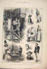 Old Antique Print 1882 Sketches Squire St James'S Theatre Scenes Play 147761