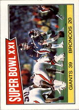 1987 Topps #1 Super Bowl XXI/Giants 39,/Broncos 20/(Line play shown) - NM-MT+