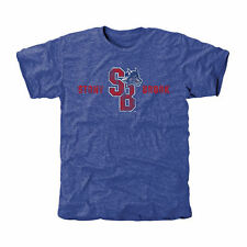 Stony Brook Seawolves Classic Wordmark Tri-Blend T-Shirt - Royal - College