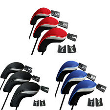 3PCs Golf Club Head Covers - 1,3&5 Wood Driver Head Covers Set Replacement tb