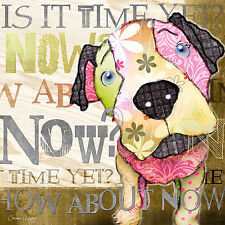 Marmont Hill - 'Now Puppy' by Connie Haley Painting Print on Wrapped Canvas